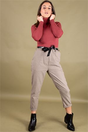 Pantalone micro check stretch con cintura SUSYMIX Susy Mix | 9 | PA965302