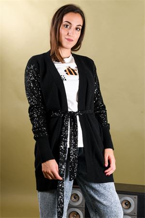 Cardigan con cintura e maniche in pailletes VICOLO Vicolo | 39 | 7112M01
