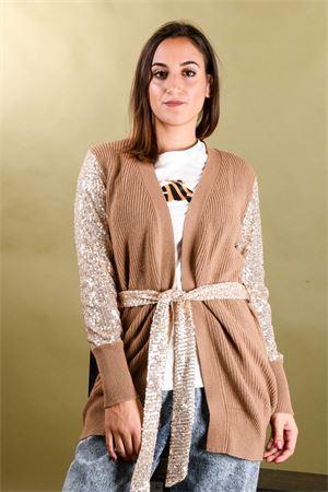 Cardigan con cintura e maniche in pailletes VICOLO Vicolo | 39 | 7112M03
