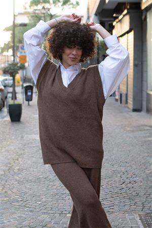 Vicolo Gilet over in lana tweed Vicolo | 38 | 5171W01