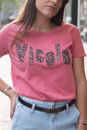 T-Shirt stampa logo con perline VICOLO Vicolo | 8 | RW007702