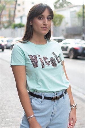 T-Shirt stampa logo con perline VICOLO Vicolo | 8 | RW007703