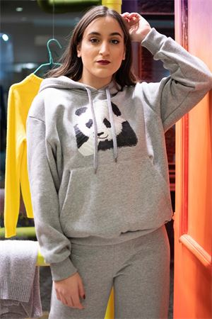 Vicolo felpa con cappuccio ricamo panda Vicolo | 7 | RW023801