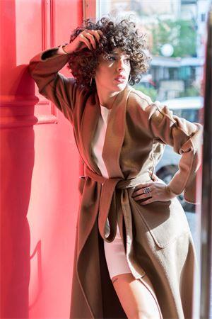 Vicolo cappotto lungo a  vestaglia sfoderato Vicolo | 17 | TW000701