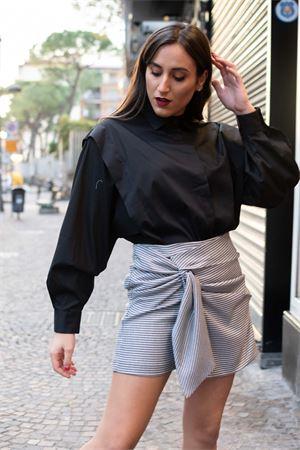 Vicolo shorts con fiocco micro pied de poule Vicolo | 15 | TW113101