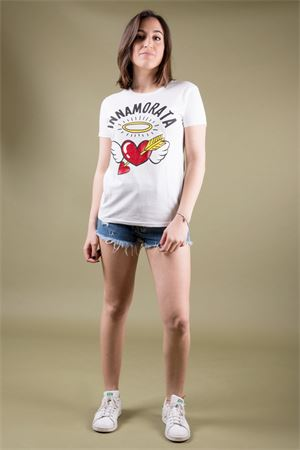 T-shirt in cotone stampa  innamorata AIEM AIEM | 8 | INNAMORATA01