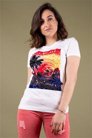 T-shirt stampa con ricami GUESS Guess   8   W91I55R5JK0P09C