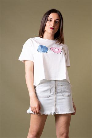 T-shirt in cotone stampa grafica glitter VICOLO Vicolo | 8 | RU087001