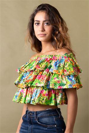Camicia a balze stampa floreale VICOLO Vicolo | 40 | TU231601