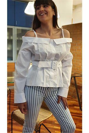 Camicia cotone stretch con cintura guess Guess Jennifer Lopez | 40 | W0GH29WCTR0TWHT