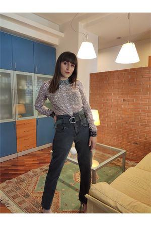 Pantalone in tela vita alta con cintura guess Guess | 24 | W01A70D38W1MRDN