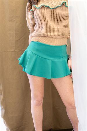Shorts in crepe stretch con volant vicolo Vicolo   20000054   TK006201