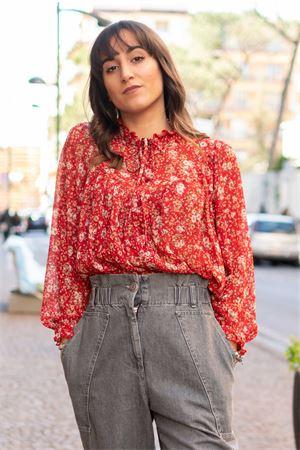 Camicia romantica stampa bouquet vicolo Vicolo | 6 | TK014201