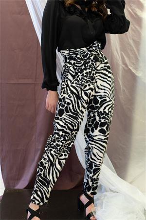 Pantalone vita alta mix print vicolo Vicolo | 9 | TK015101