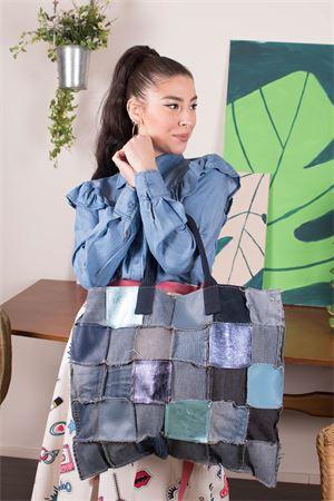 susymix borsa patchwork in denim Susy Mix | 31 | FORMENTERA01