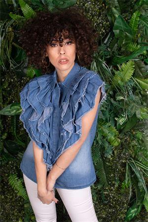 susymix camicia in chambry con rouches Susy Mix | 6 | NONB0401