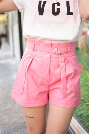 Vicolo shorts in ecopelle con cintura Vicolo | 30 | TH001001