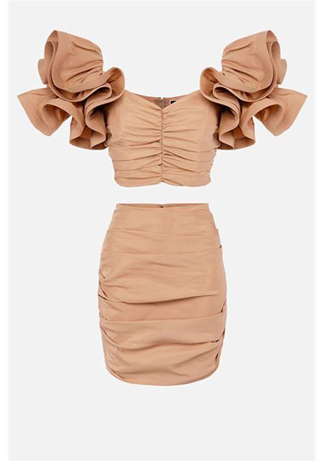 completo gonna + top con rouches ELISABETTA FRANCHI | Completo | TG00311E2614