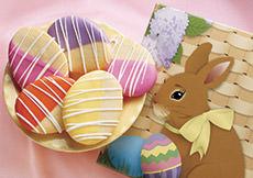 Easter Egg Shortbread Cookies