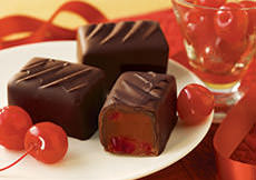 Dark Maraschino Cherry Chocolates