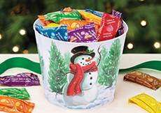 Holly Jolly Gift Bucket