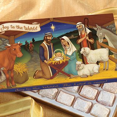 Joy to the World Christmas Gift Box