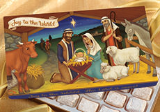 Joy to the World Christmas Gift Box