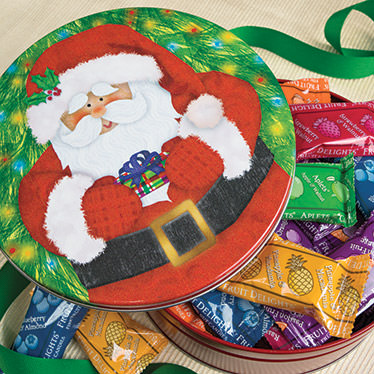 Wrapped Minis Santa Gift Tin
