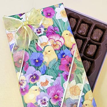 8oz Spring Wrapped Fruit Chocolates