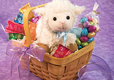 Lovable Lamb Basket