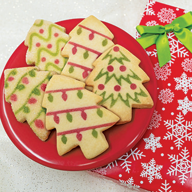 Christmas Tree Shortbread Box