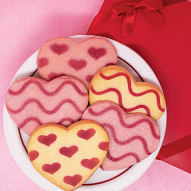 Shortbread Cookie Hearts Gift