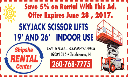 Shipshe Rental Center Coupon | | Rentals | Retail and