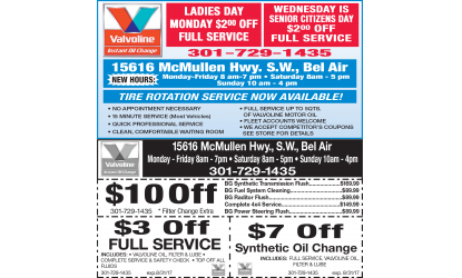 Valvoline Oil Blackstone Coupon Cumberland Oil Changes
