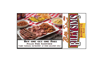 billy sims barbecue coupons