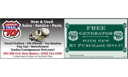 Chisolm Trail RV Coupon | Durango & Montezuma | Other