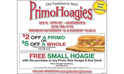 Primo Hoagies Coupon Delis Restaurants Coupons 17837