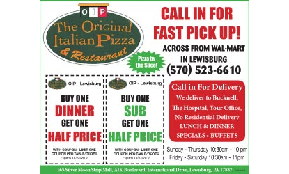 The Original Italian Pizza And Restaurant L Coupon Pizza