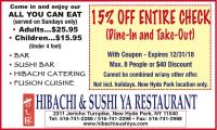 Hibachi & Sushi Ya Restaurant