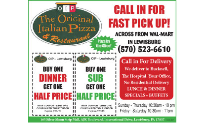 d888ffce59 The Original Italian Pizza and Restaurant - L Coupon