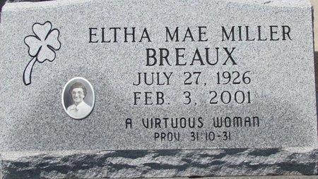 BREAUX, ELTHA MAE - Acadia County, Louisiana | ELTHA MAE BREAUX - Louisiana Gravestone Photos
