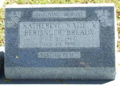 "BREAUX, KATHERINE V ""KATIE"" - Acadia County, Louisiana 