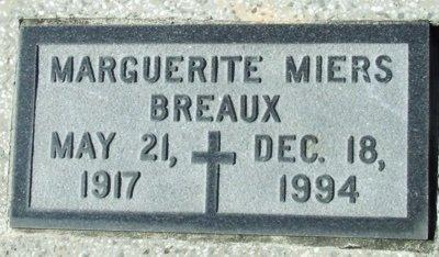 BREAUX, MARGUERITE - Acadia County, Louisiana | MARGUERITE BREAUX - Louisiana Gravestone Photos