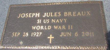 BREAUX, JOSEPH JULES  (VETERAN WWII) - Acadia County, Louisiana | JOSEPH JULES  (VETERAN WWII) BREAUX - Louisiana Gravestone Photos
