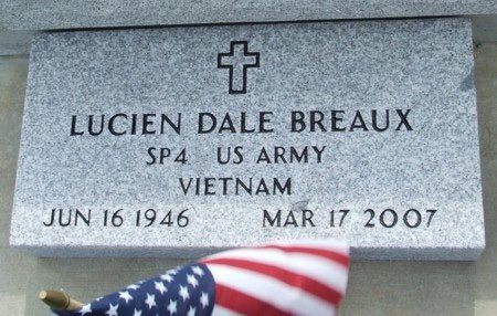 BREAUX, LUCIEN DALE (VETERAN VIET) - Acadia County, Louisiana | LUCIEN DALE (VETERAN VIET) BREAUX - Louisiana Gravestone Photos