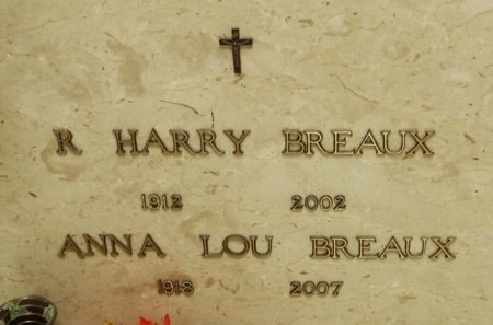 BREAUX, R HARRY - Acadia County, Louisiana | R HARRY BREAUX - Louisiana Gravestone Photos