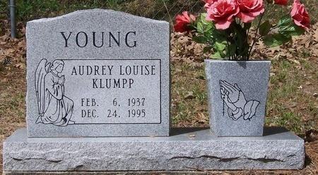 KLUMPP YOUNG, AUDREY LOUISE - Acadia County, Louisiana | AUDREY LOUISE KLUMPP YOUNG - Louisiana Gravestone Photos