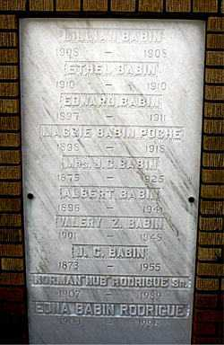 BABIN, LILLIAN - Ascension County, Louisiana | LILLIAN BABIN - Louisiana Gravestone Photos
