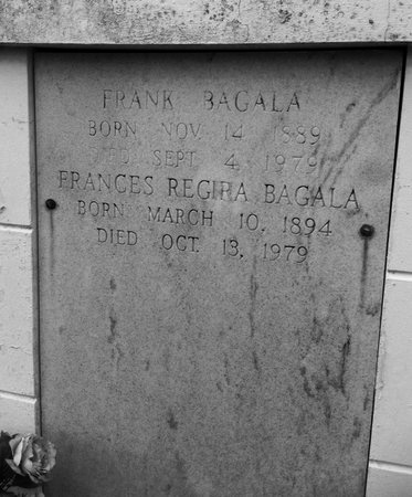 REGIRA BAGALA, FRANCES - Ascension County, Louisiana | FRANCES REGIRA BAGALA - Louisiana Gravestone Photos