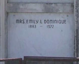 LANDRY DOMINIQUE, EMILY - Ascension County, Louisiana | EMILY LANDRY DOMINIQUE - Louisiana Gravestone Photos